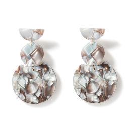 Hot Sale Fashion acrylique ronde Mesdames Bijoux Earring Accessoires Commerce de gros