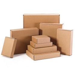 Поставщик нестандартного формата печать логотипа коричневый гофрированный картон Kraft упаковки Express коробки транспортировочные отправителя бумаги для нижнее белье Panty