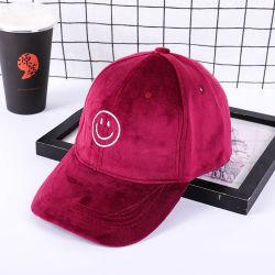 Sombrero Pleuche personalizado con logotipo bordado gorra de béisbol