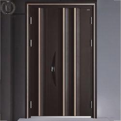 Front Wohn Moderne Sicherheit Eingang Außerhalb Stahl Metalltür