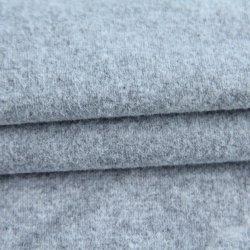 El 95%Algodón spandex tejido llano 5gris pulido tejido polar 230gsm para la prenda de ropa deportiva//prendas de vestir