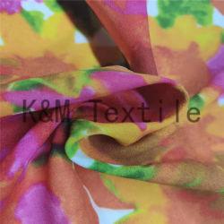 Vestido de seda de tela como tejido de poliester impreso digital de diseño