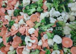Gemüsemischung, Mischgemüse, IQF, Carrots+Peas+Corns+Broccoli+Cauliflowers+Water Chestnuts+Bamboo Shoots+Black Pilz, ISO/HACCP/Brc/Halal/Kosher bestätigt
