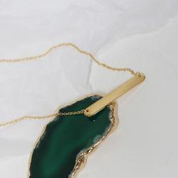 Personalisiertes Glück Edelstahl Namensschild Verstellbare Kette Custom Graviert Name Platte Gold Bar Halskette für Frauen