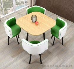 흰색의 심플한 현대식 하우스 가구 테이블 세트 레스토랑 식탁 4인승 저좌석 아메리칸 다이닝 테이블 세트
