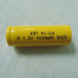 Batteria di Ewt NiCd/Ni-CD una cella ricaricabile di 1.2V 1400mAh