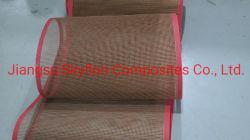 Tecido de fibra de vidro revestida a PTFE malha com reforço de borda