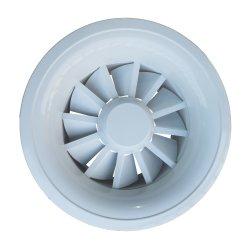 Plafond enduit de poudre d'aluminium Circulaire Diffuseur air swirl réglable pour HVAC