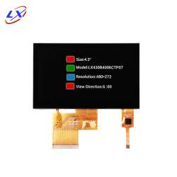 Alta fiabilidade 4.3 polegadas de ecrã táctil TFT capacitivo CTP ecrã LCD , a tela multi-touch painel LCD monitor TFT de 4,3 polegadas