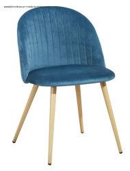 سعر عرض المصانع كرسي الطعام المخملية المخملية مع تصميم شعبي للمنزل باستخدام