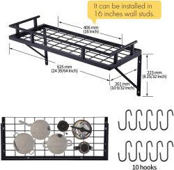 2021 Elevado Nível durável com utensílios de metal Prateleira de armazenamento Taça da Placa Prato Drainer Cavalete Cozinha Paletes para Home