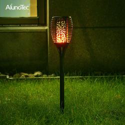 Angeschaltenes LED Garten-dekoratives Solarlicht der im Freienflamme-