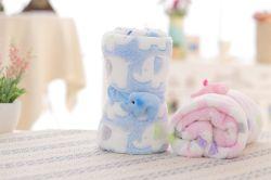 赤ん坊ベッドの赤ん坊のための動物象のプラシ天プリント羊毛毛布