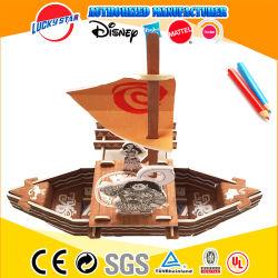 Gioca le imbarcazioni di Disne di puzzle del puzzle di 3D DIY modellano i giocattoli stereoscopici delle imbarcazioni dei pirati di puzzle della nave 3D della barca di Vaiana per i bambini