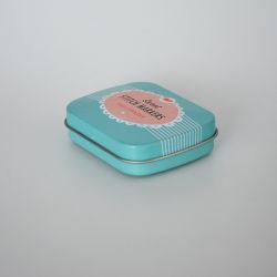 캔디 검을 위한 힌지가 있는 작은 금속 캔 민트 틴입니다 과자류 상자