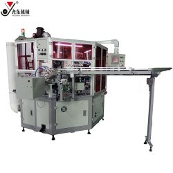 플라스틱 PE 병 4 4개의 색깔 고속 둥근 Flated 자동적인 실크스크린 UV 스크린 인쇄 기계
