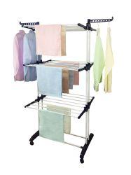 Opvouwbaar huishoudelijk werk Roestvrijstaal kleren Coats Handdoeken Shirts sjaals Smart Kleding Baby Grass Drying Rack
