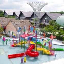 L'eau d'Amusement Park de l'équipement de terrain de jeux avec des enfants de l'eau Splash Diapositive