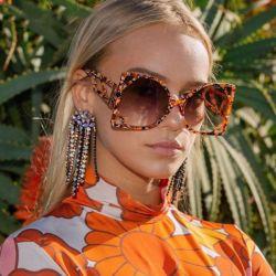 Occhiali da sole Eugenia New Design Square Big Frame Luxury Oversize Occhiali da sole UV400 Cat Eye Women Butterfly Shades