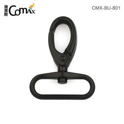 Ressort de pivot du matériel de sac à main personnalisé Mousqueton en métal, cordon noir mousqueton