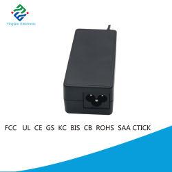 وحدة تزويد بالطاقة تعمل بمحول تيار متردد AC DC أحادي الإخراج بقدرة 40 واط لسطح المكتب مع كبل تيار مستمر بطول 1,2 م-2 م