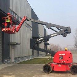 調整高さ 14 m ブームリフト建設用電動油圧クランクアーム ブームリフトアンテナ作業プラットフォーム販売用