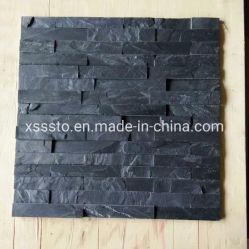 Оптовая торговля природным черного сланца, плитки для монтажа на стену оболочка/шпона