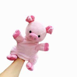OEM 키즈 교육 핸드퍼펫 인형, 포근한 핸드인형동물 돼지, 인형동물 인형
