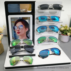 حامل أير Eyewear متعدد المستويات من الطبقة العلوية من الأكريليك حامل الشاشة