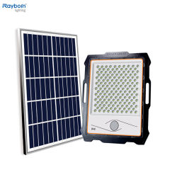 توفير الطاقة في الخارج IP66 80 واط، 100 واط، 200 واط، 300 واط، 400 واط، LED ضوء الفيضان الشمسي لساحة الحديقة الطريق Lawn Road Solar تجهيزات الإضاءة الخارجية