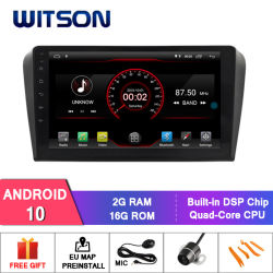 Witson Android 10 Mazda 3용 카 DVD 내비게이션 GPS (2004-2009)