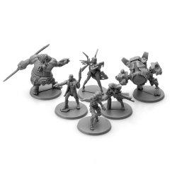 Kundenspezifische hohe Abbildung Spiel Monste Miniatur-Stücke des Menschen-3-5cm