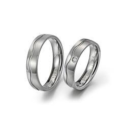 Ouro de 24K de Casamento Anéis Anel de engrenamento Diamond