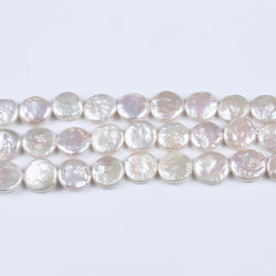 14-15mm Coin agua dulce Pearl Loose Pearl String