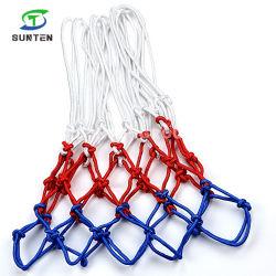 Rete ultra resistente di obiettivo di pallacanestro poliestere/del nylon nel singolo colore bianco, blu, rosso, reti Braided di pallacanestro