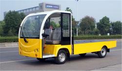 2 tonnes électrique certifiée CE Plat de marchandises La plaque de transporter le chariot avec 2 places