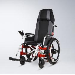 Haltbarer 250With350W Gummireifen-Legierungs-Rahmen des Motor20inch für untaugliche den LCD-Bildschirmanzeige-preiswerten Preis, der elektrischen Rollstuhl faltet