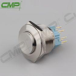 Roestvrij staal 28mm van het Metaal CMP Oppervlakte zet de Schakelaar van de Drukknop op