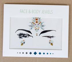 Sticker van de Gem van het Gezicht van de Juwelen van het Lichaam van de Manier van de Douane van de fonkeling de Zelfklevende