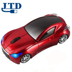 Esportes Cool 3D em forma de Automóveis Mouse óptico sem fio 1600dpi Botão 3 escritório ergonómico camundongos com Receptor USB para presente de Natal