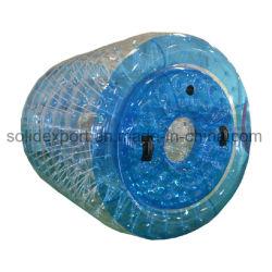 투명한 거대한 팽창식 PVC 뜨 롤러 물 Zorbing 공 물 걷는 풍선