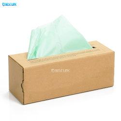 Eco-Friendly Material de amido de milho 100% biodegradáveis e sacos de plástico Compostável Roll 6L/8L/10L
