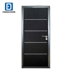 装飾的なアルミニウムストリップが付いている安全室のドア