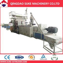 UV 코팅 (SJ-80/156) /Marble 위원회 압출기 또는 훈장 장 생산 라인을%s 가진 PVC 모조 인공적인 대리석 훈장 장 또는 널 또는 격판덮개 만들기 기계