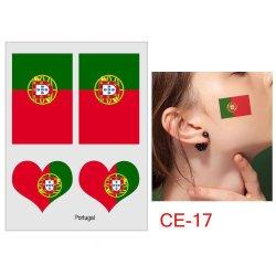 Les fans de football drapeau de la nation la Coupe du monde Tattoo autocollant