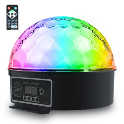 Cambio de color RGBW Simva parte haces de luz LED magia discoteca parte automático de control de sonido Crystal LED Magic Ball las luces de fiesta