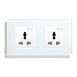 Presa multifunzione Wi-Fi presa a muro Smart presa cristallo bianco nero Presa di alimentazione da pannello 13A per Smart House