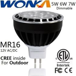 Réglable LED MR16 6.5W Spotlight pour application en plein air