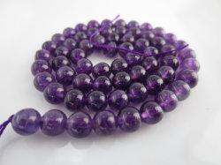 Cordões de pedra ametista natural para Jóias de joalharia tornando todos os tamanhos disponíveis 6 mm