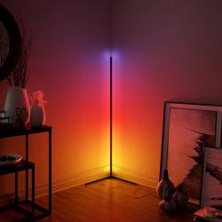 Nacht, die moderne einfache LED-Eckaluminium RGB-Fußboden-Lampe beleuchtet